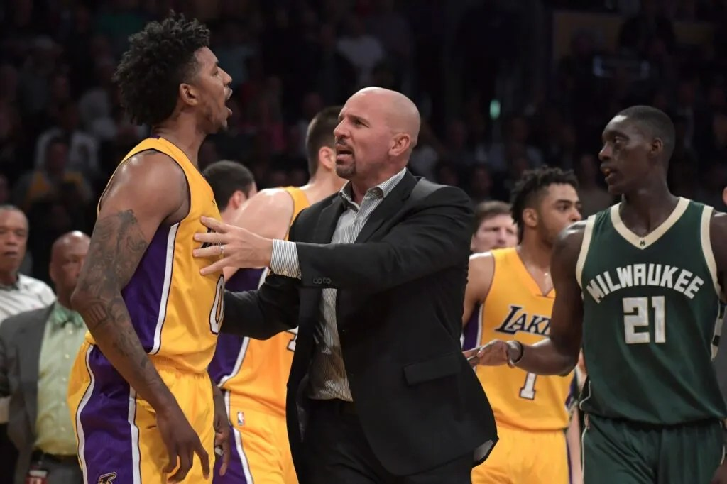 Nick Young and Jason Kidd