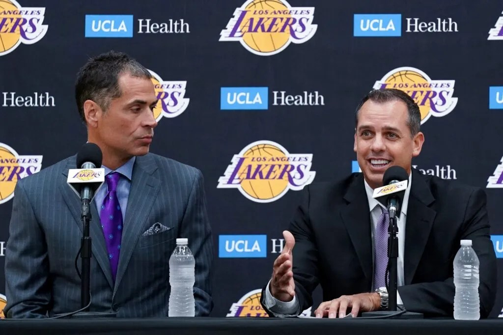 Rob Pelinka and Frank Vogel