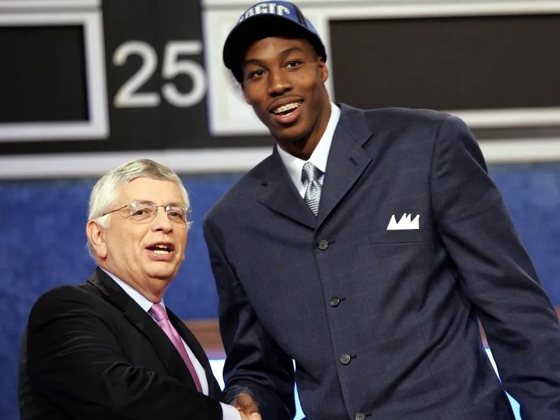 David Stern and Dwight Howard