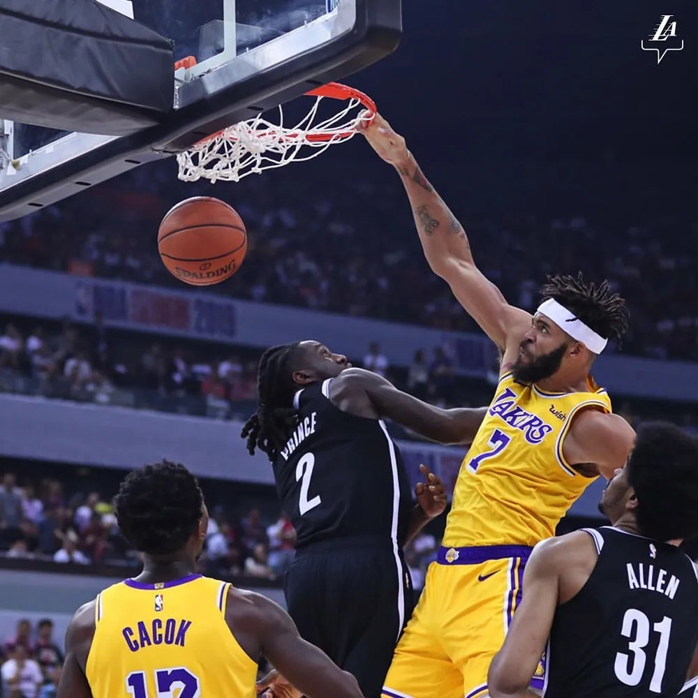 JaVale McGee, Los Angeles Lakers vs Brooklyn Nets