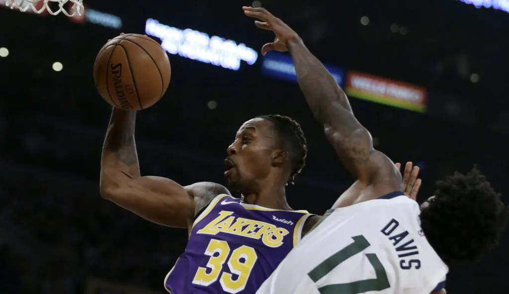 Dwight Howard, Los Angeles Lakers vs Utah Jazz