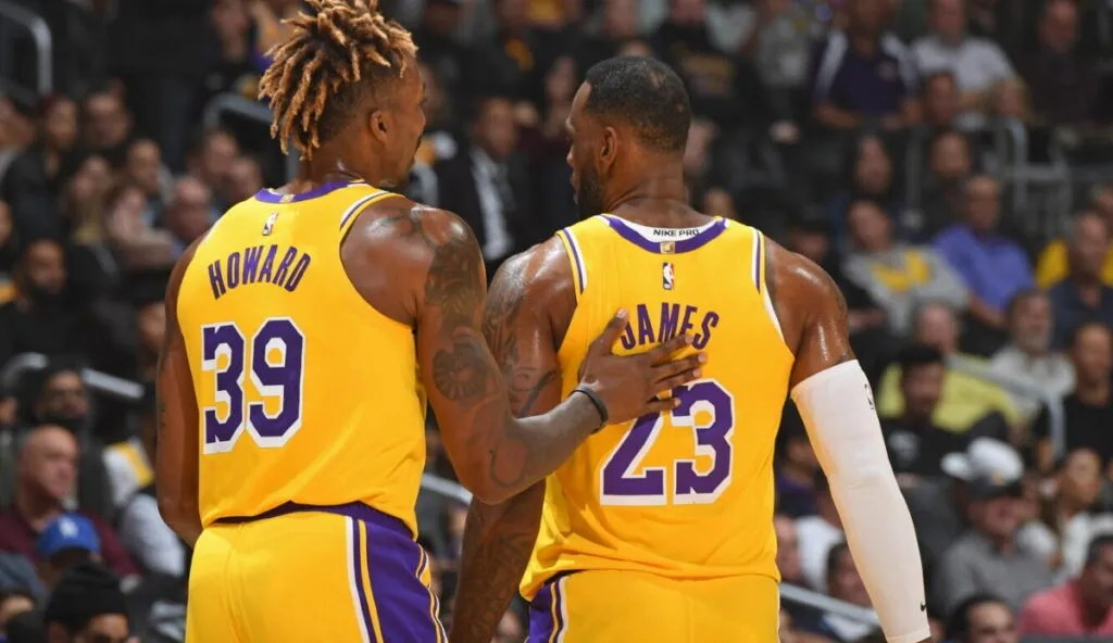 Dwight Howard and LeBron James, Los Angeles Lakers vs Memphis Grizzlies