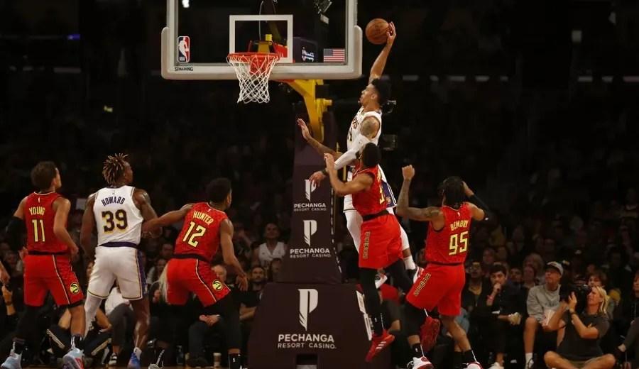Danny Green, Los Angeles Lakers vs Atlanta Hawks