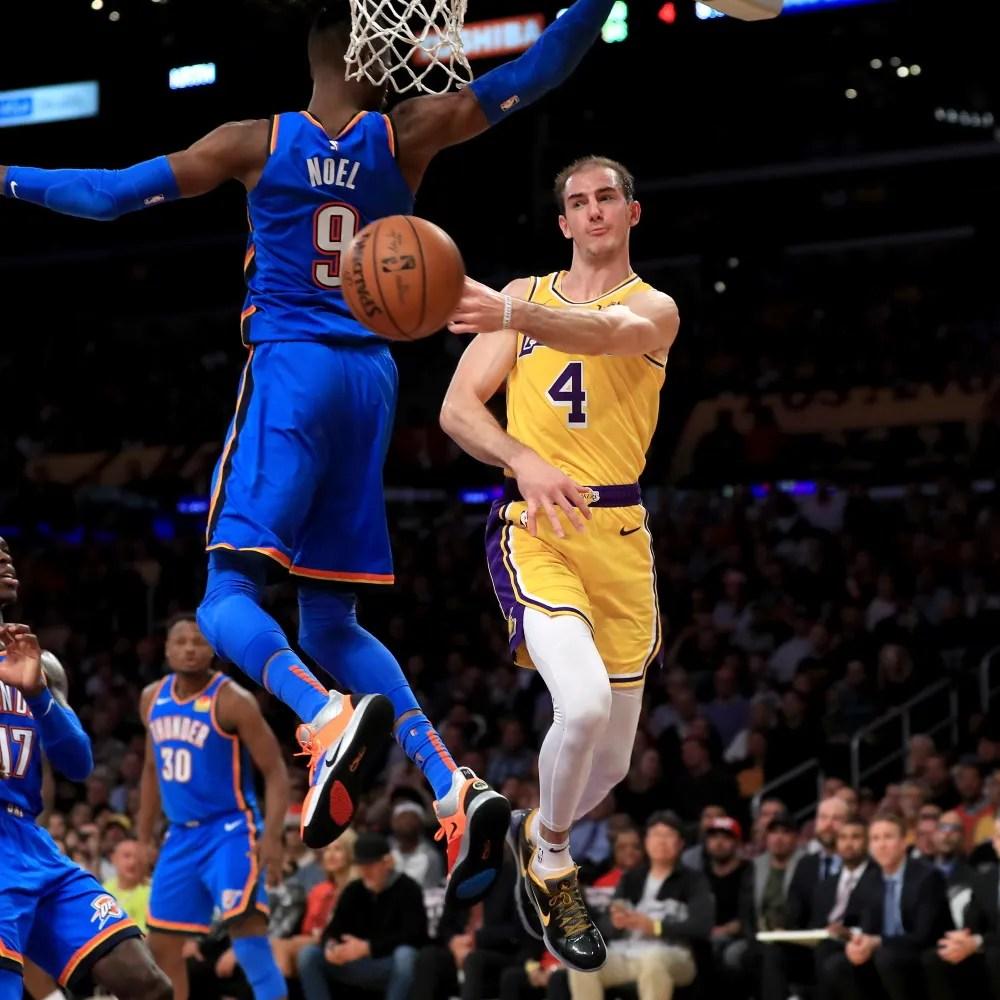 Alex Caruso, Los Angeles Lakers vs Oklahoma City Thunder