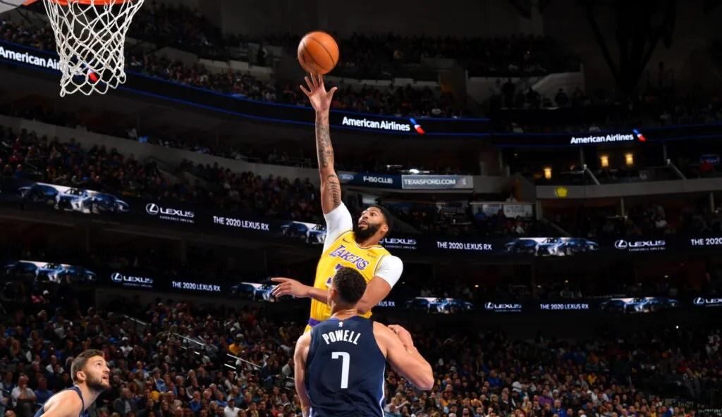 Anthony Davis, Los Angeles Lakers vs Dallas Mavericks