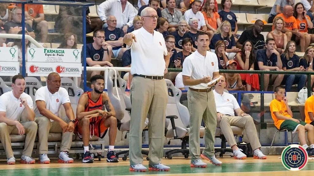 Coach Jim Boeheim, Syracuse Orange vs. Siena Summer Select at Siena