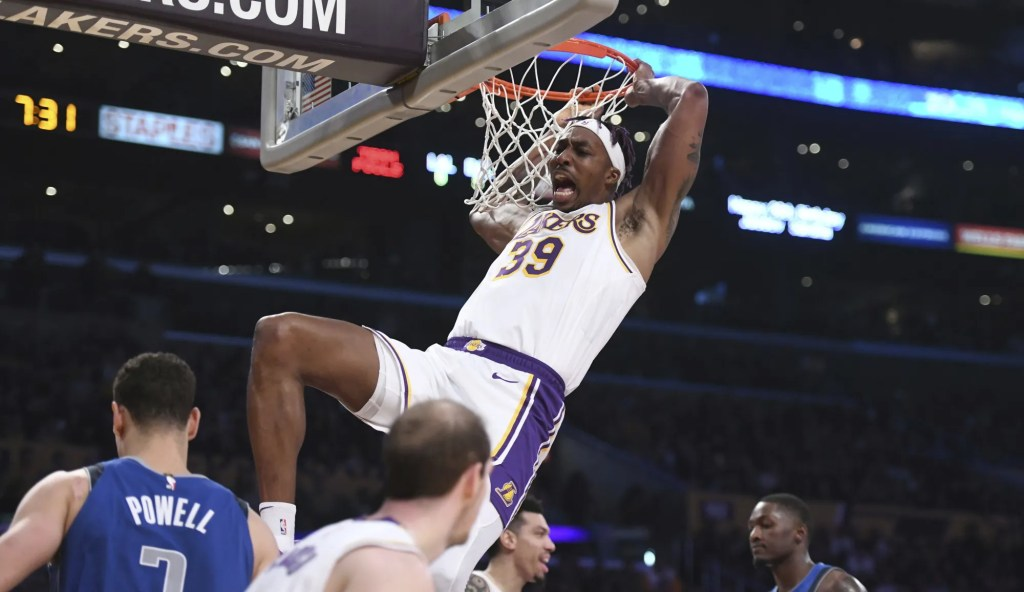 Dwight Howard, Los Angeles Lakers vs Dallas Mavericks at STAPLES Center
