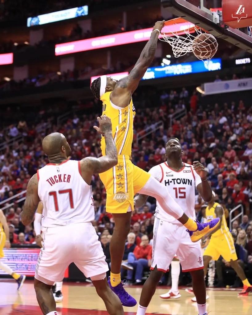Dwight Howard, Los Angeles Lakers vs Houston Rockets at Toyota Center