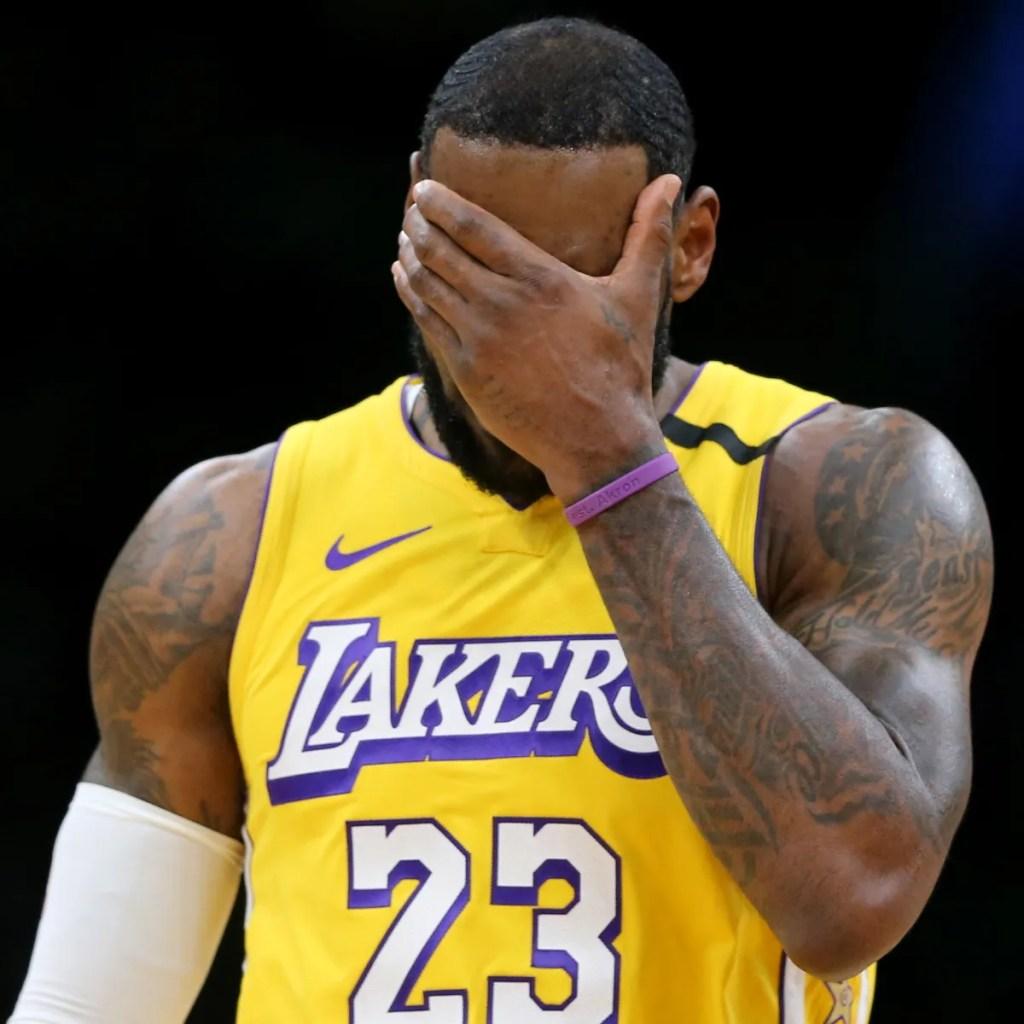 LeBron James, Los Angeles Lakers vs Boston Celtics at TD Garden
