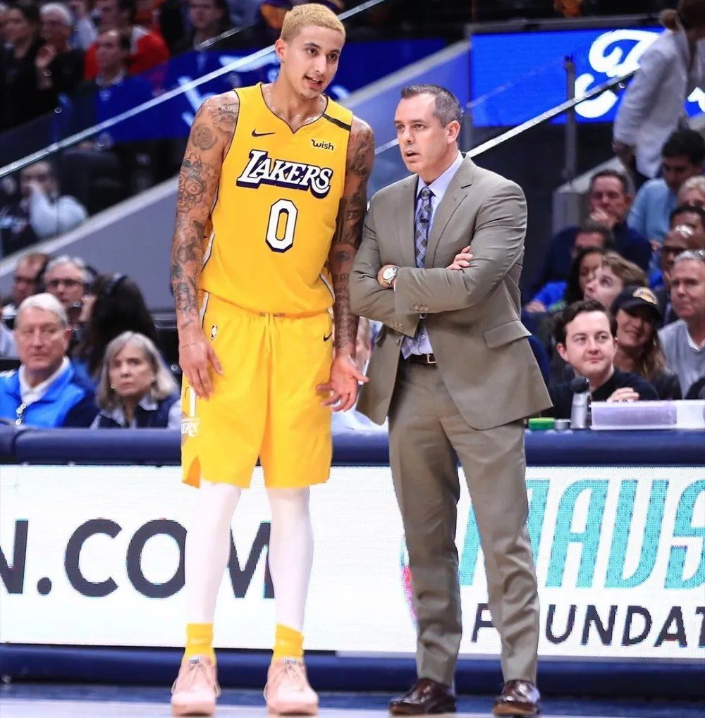 Kyle Kuzma and Frank Vogel