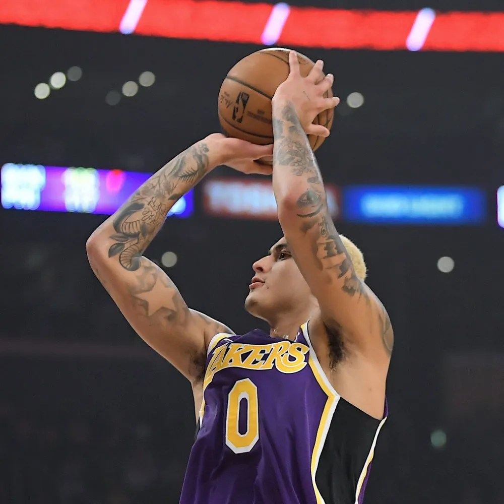 Kyle Kuzma, Los Angeles Lakers vs Orlando Magic at STAPLES Center