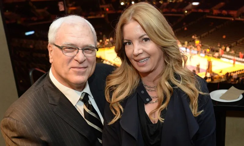 Phil Jackson and Jeanie Buss