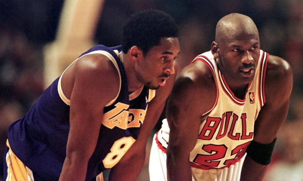 Kobe Bryant and Michael Jordan in 1997