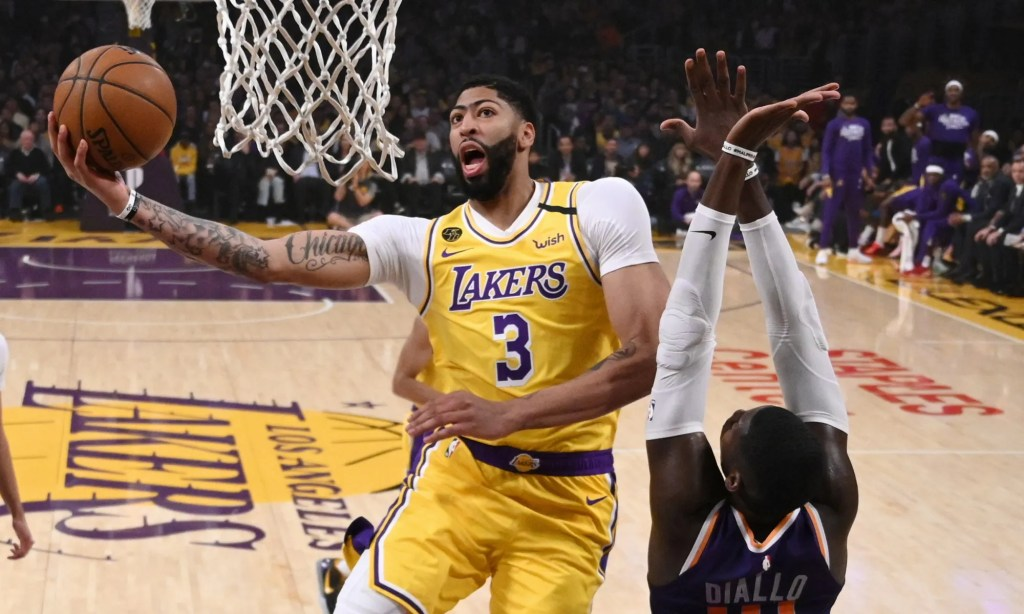 Anthony Davis and Cheick Diallo, Los Angeles Lakers vs Phoenix Suns at STAPLES Center