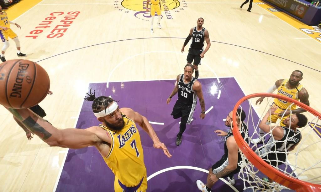 JaVale McGee, Los Angeles Lakers vs San Antonio Spurs