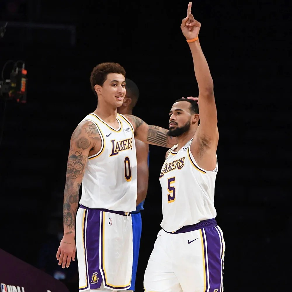 Kyle Kuzma and Talen Horton-Tucker, Los Angeles Lakers vs LA Clippers at STAPLES Center