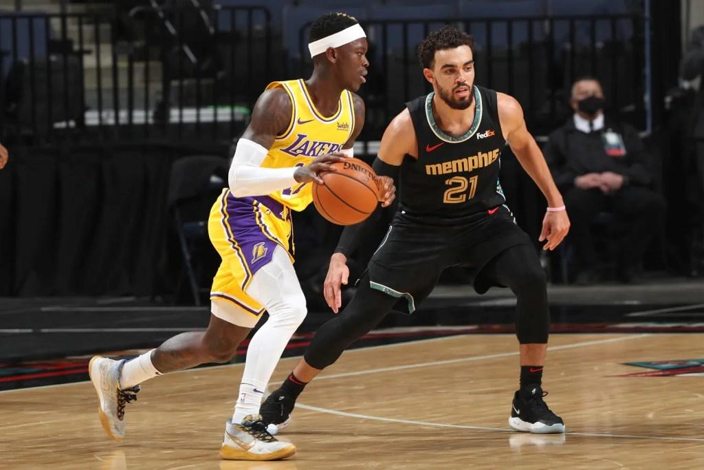 Dennis Schröder, Los Angeles Lakers vs Memphis Grizzlies