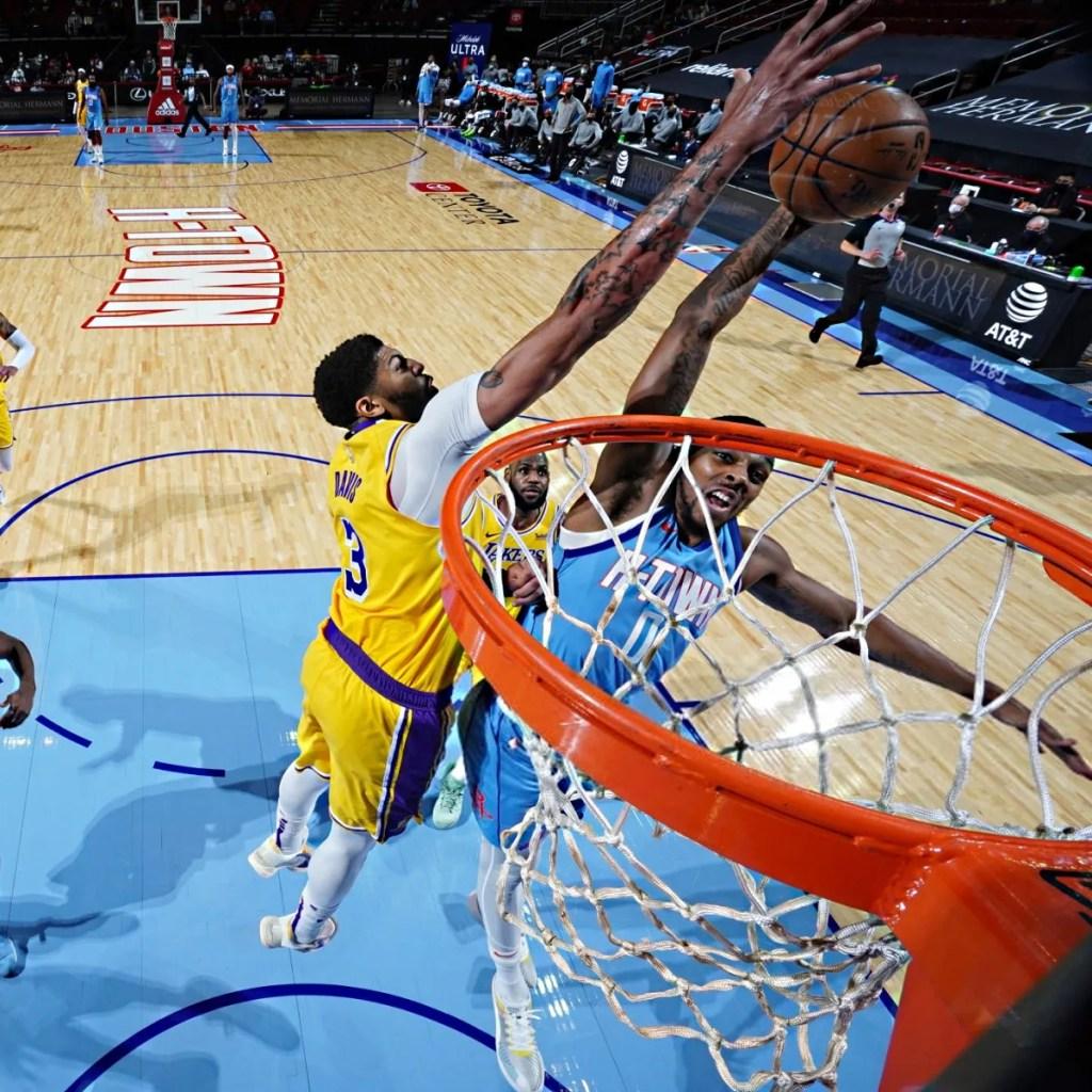 Anthony Davis, Los Angeles Lakers vs Houston Rockets