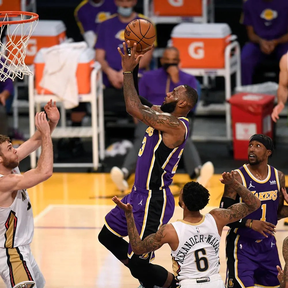 LeBron James, Los Angeles Lakers vs New Orleans Pelicans