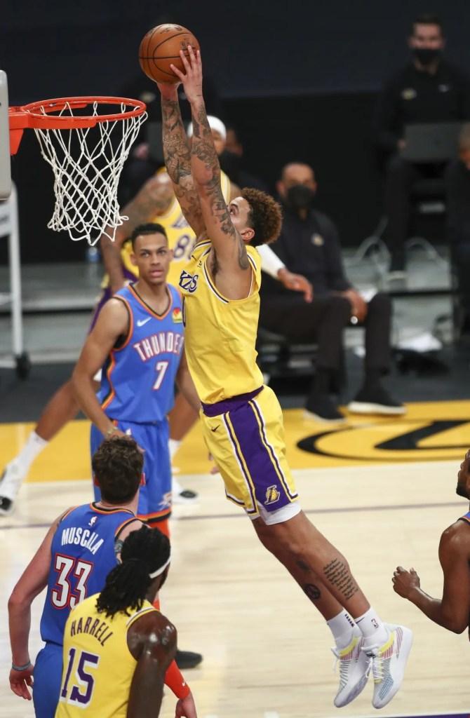Kyle Kuzma, Los Angeles Lakers vs Oklahoma City Thunder