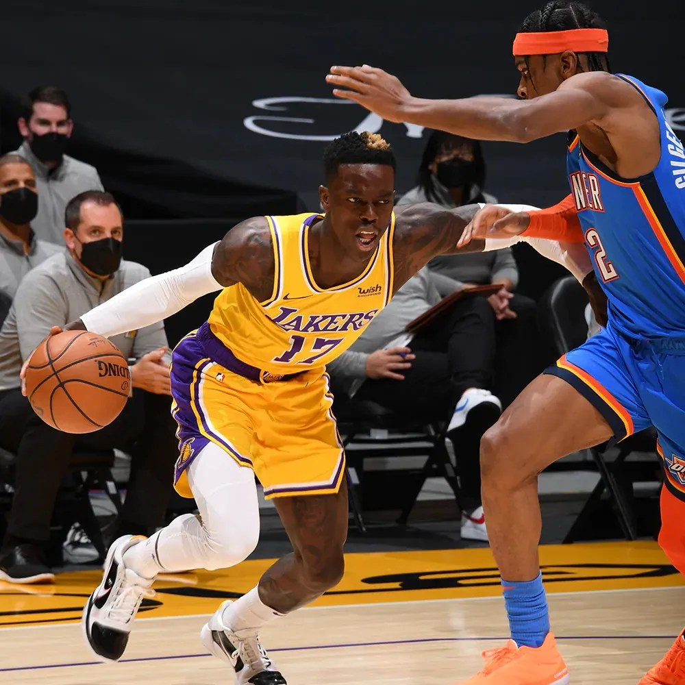 Dennis Schröder, Los Angeles Lakers vs Oklahoma City Thunder