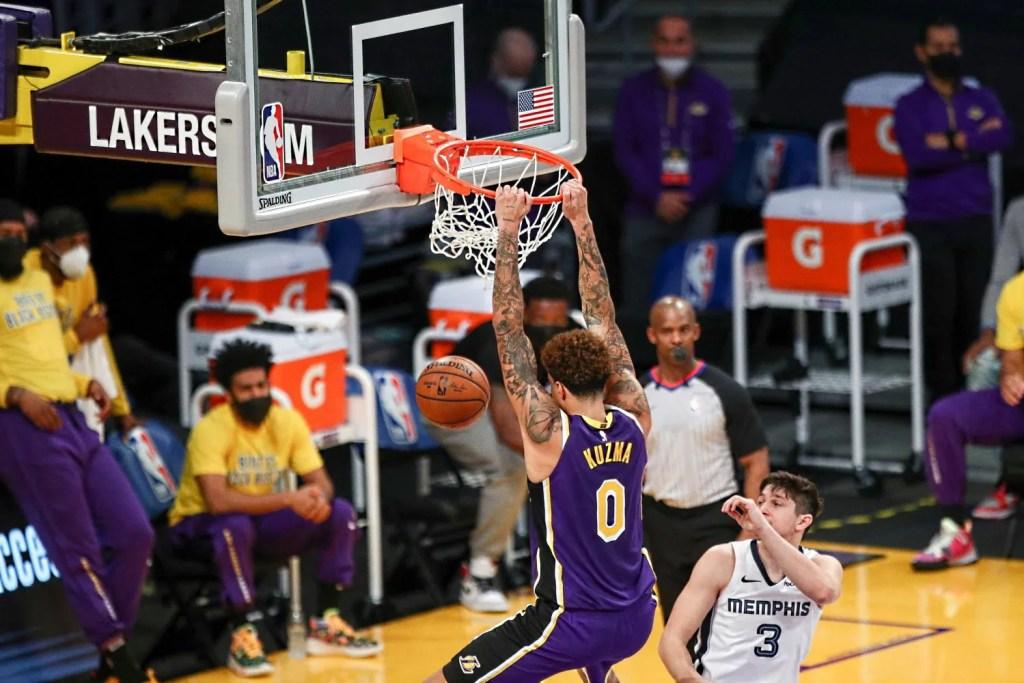 Kyle Kuzma, Los Angeles Lakers vs Memphis Grizzlies
