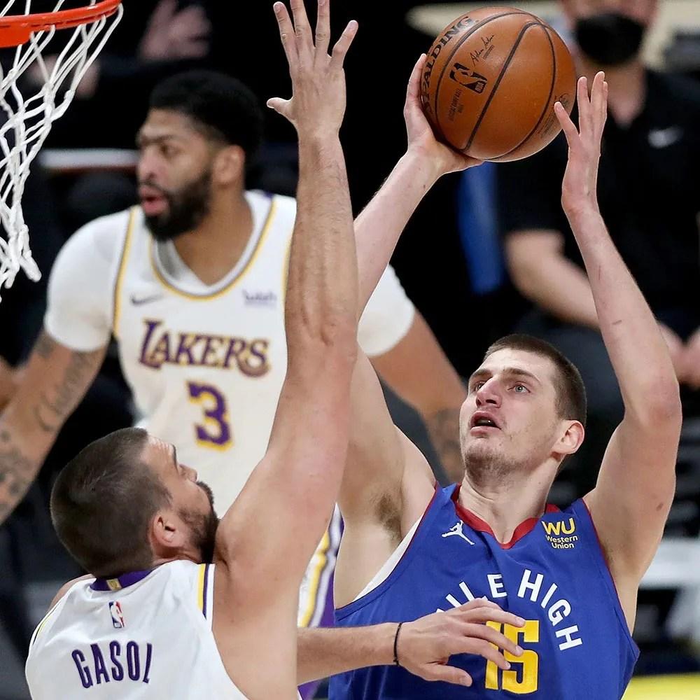 Marc Gasol and Nikola Jokic, Los Angeles Lakers vs Denver Nuggets