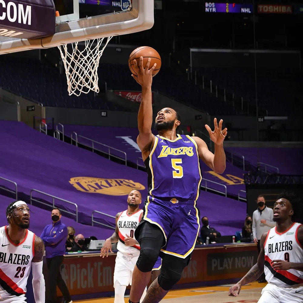 Talen Horton-Tucker, Los Angeles Lakers vs the Portland Trail Blazers