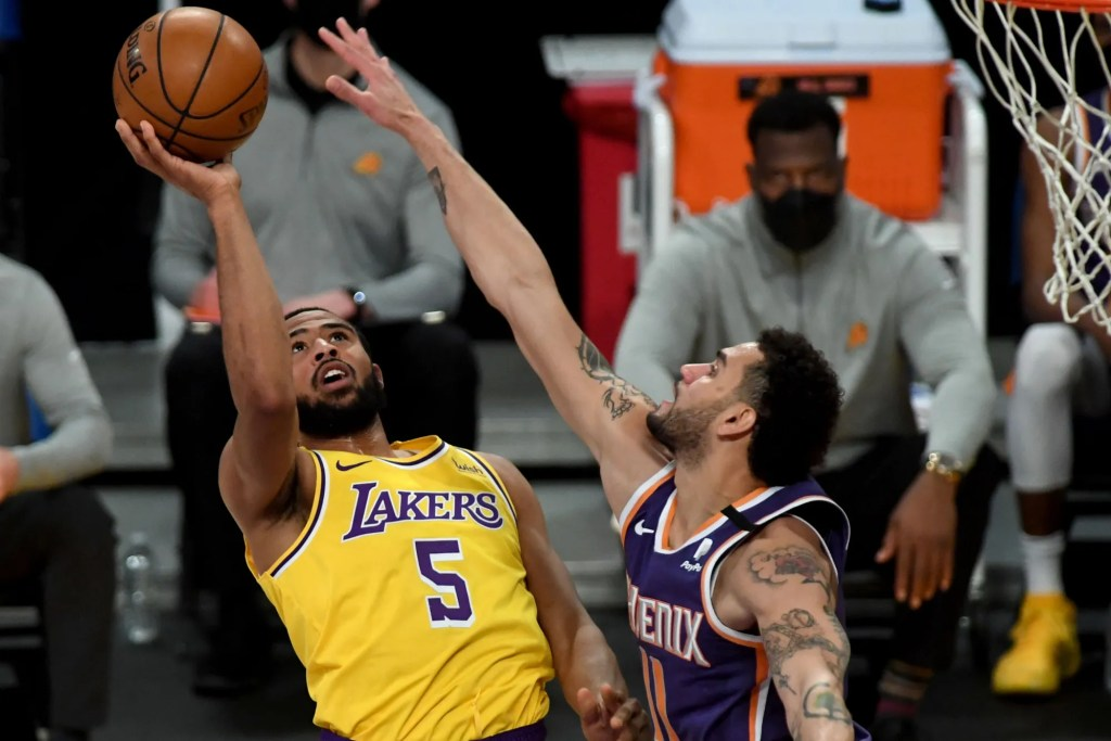Talen Horton-Tucker and Abdel Nader, Los Angeles Lakers vs Phoenix Suns