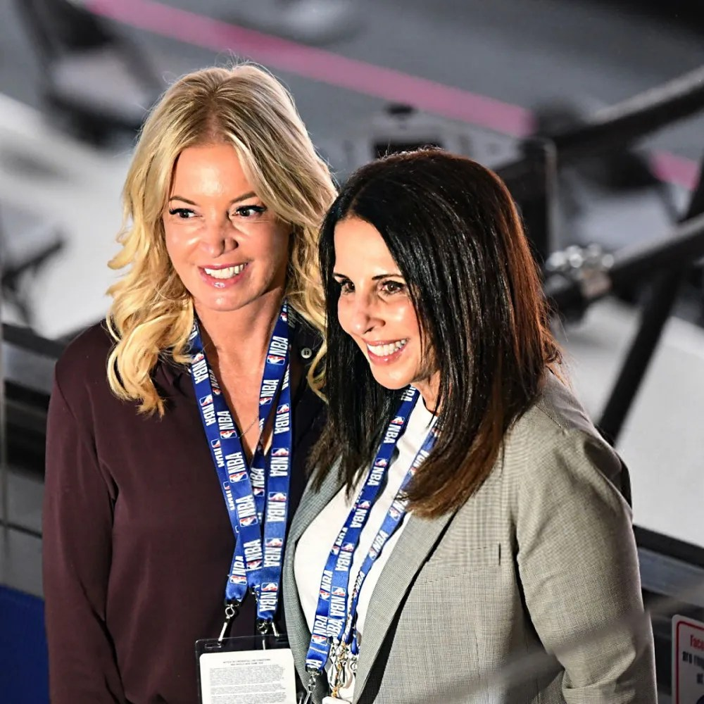 Jeannie Buss and Linda Rambis