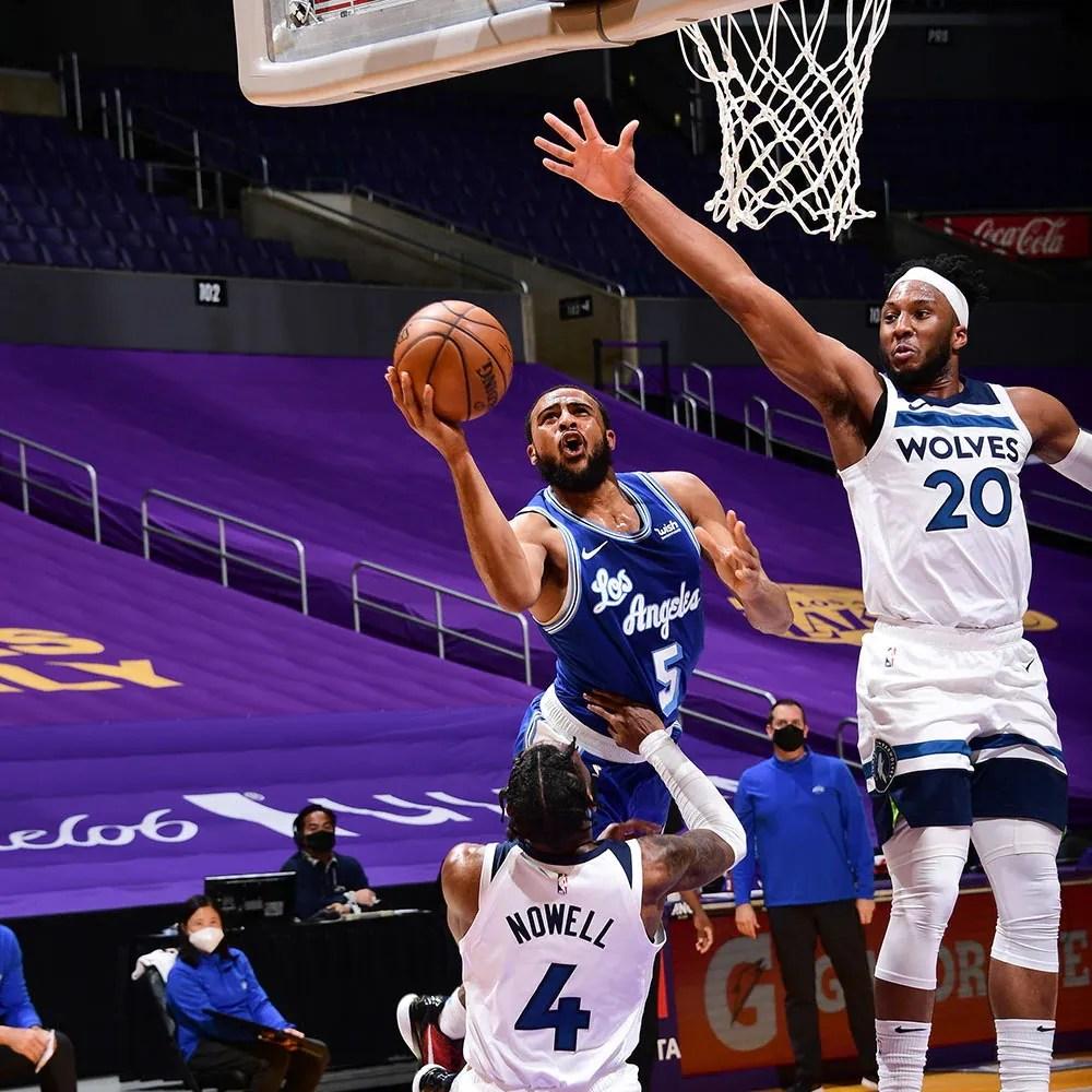 Talen Horton-Tucker, Los Angeles Lakers vs Minnesota Timberwolves