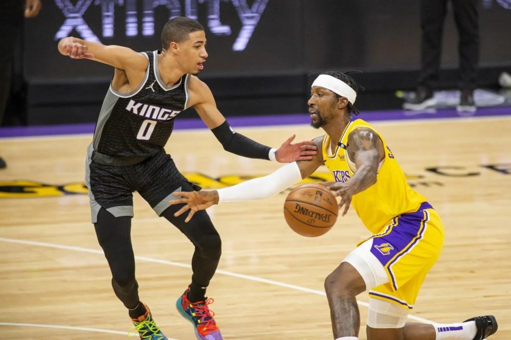 Tyrese Haliburton and Kentavious Caldwell-Pope, Los Angeles Lakers vs Sacramento Kings