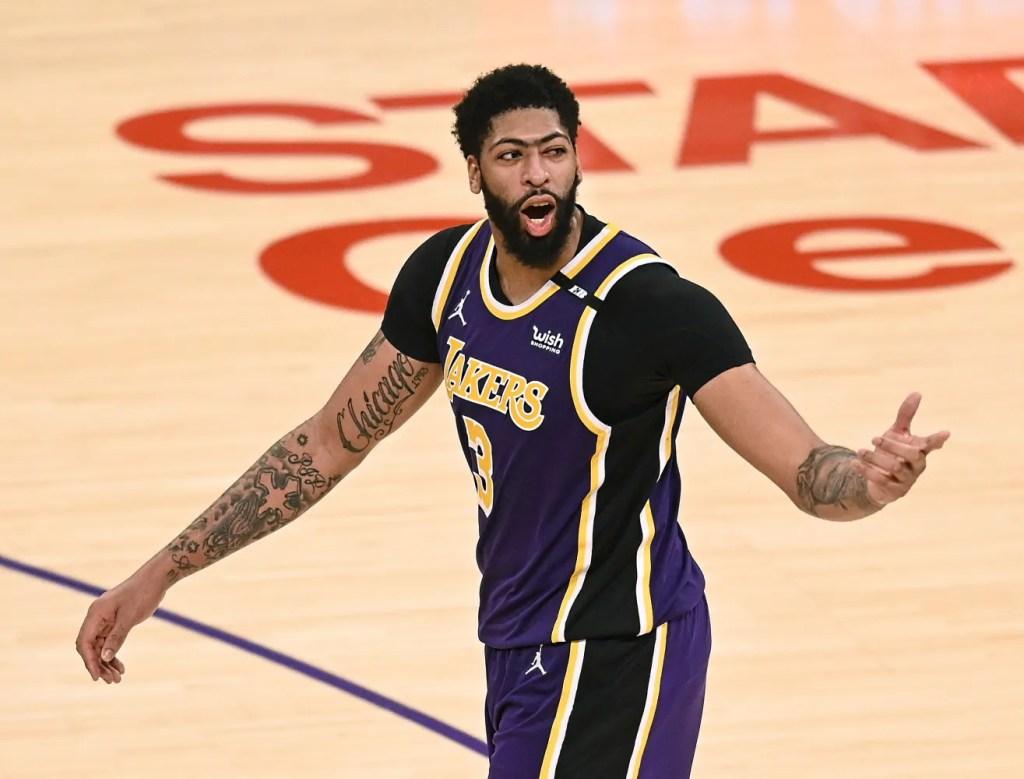 Anthony Davis, Los Angeles Lakers vs New York Knicks