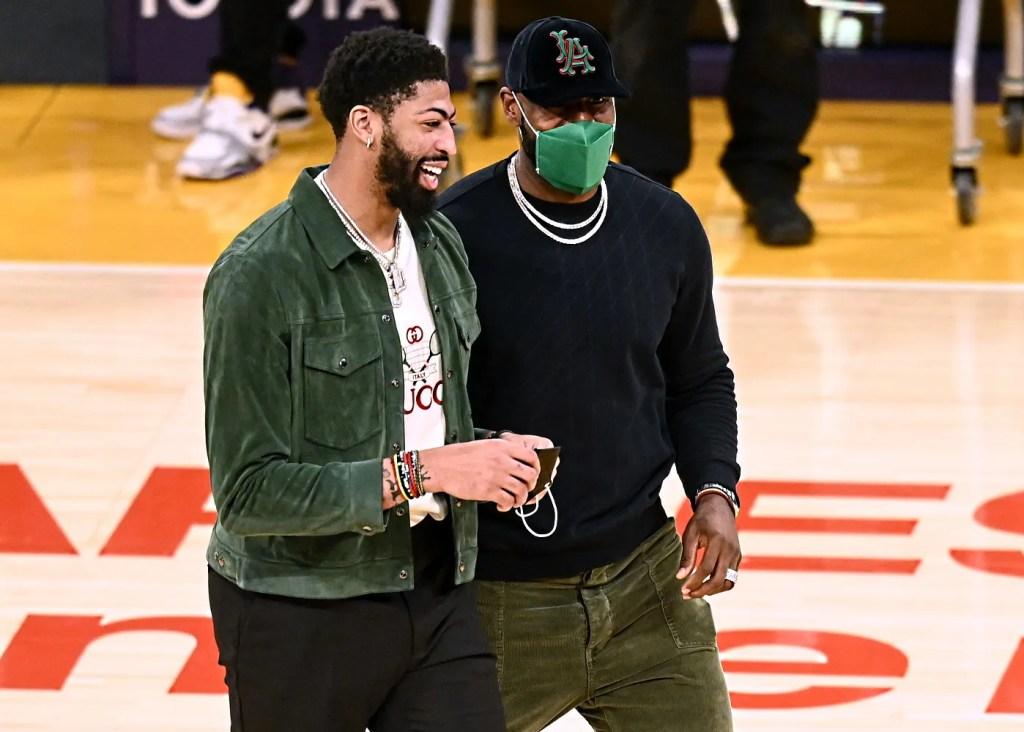 Anthony Davis and LeBron James; Los Angeles Lakers vs Houston Rockets