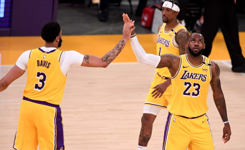 LeBron James and Anthony Davis, Los Angeles Lakers vs Golden State Warriors