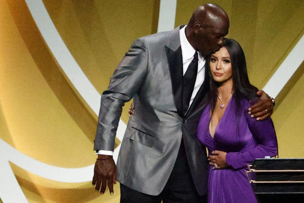 Michael Jordan and Vanessa Bryant, 2020 Basketball Hall of Fame Enshrinement Ceremony on May 14, 2021 at the Mohegan Sun Arena at Mohegan Sun in Uncasville, Connecticut.