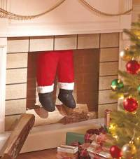 Santa Coming Down the Chimney | The Lakeside Collection