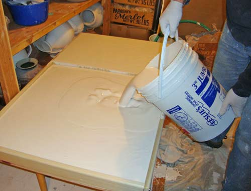 Making Wedging table and Clay Recycling Plaster Boards