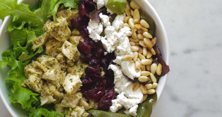 Goddess Salad with Chicken and Goat Cheese