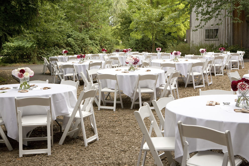 rectangle tables wedding reception