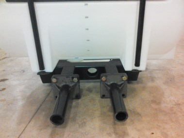 torpedos (heavy wall pipe) fit into track frame