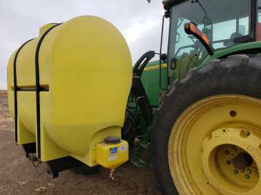 Lakestate Mfg showing how easy it is to get into the tractor cab.