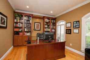 Office/den w/custom built ins