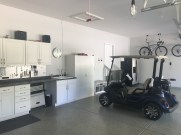 Finished garage w/room for your golf cart