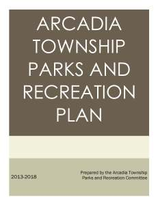 Arcadia Township Parks and Recreation Plan