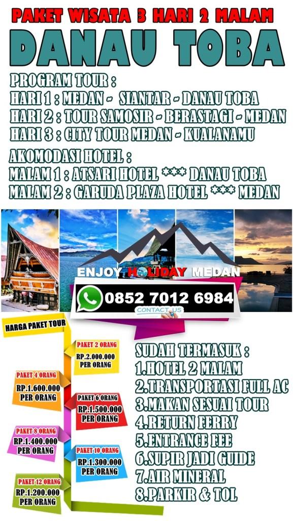 3D2N Lake Toba Tour