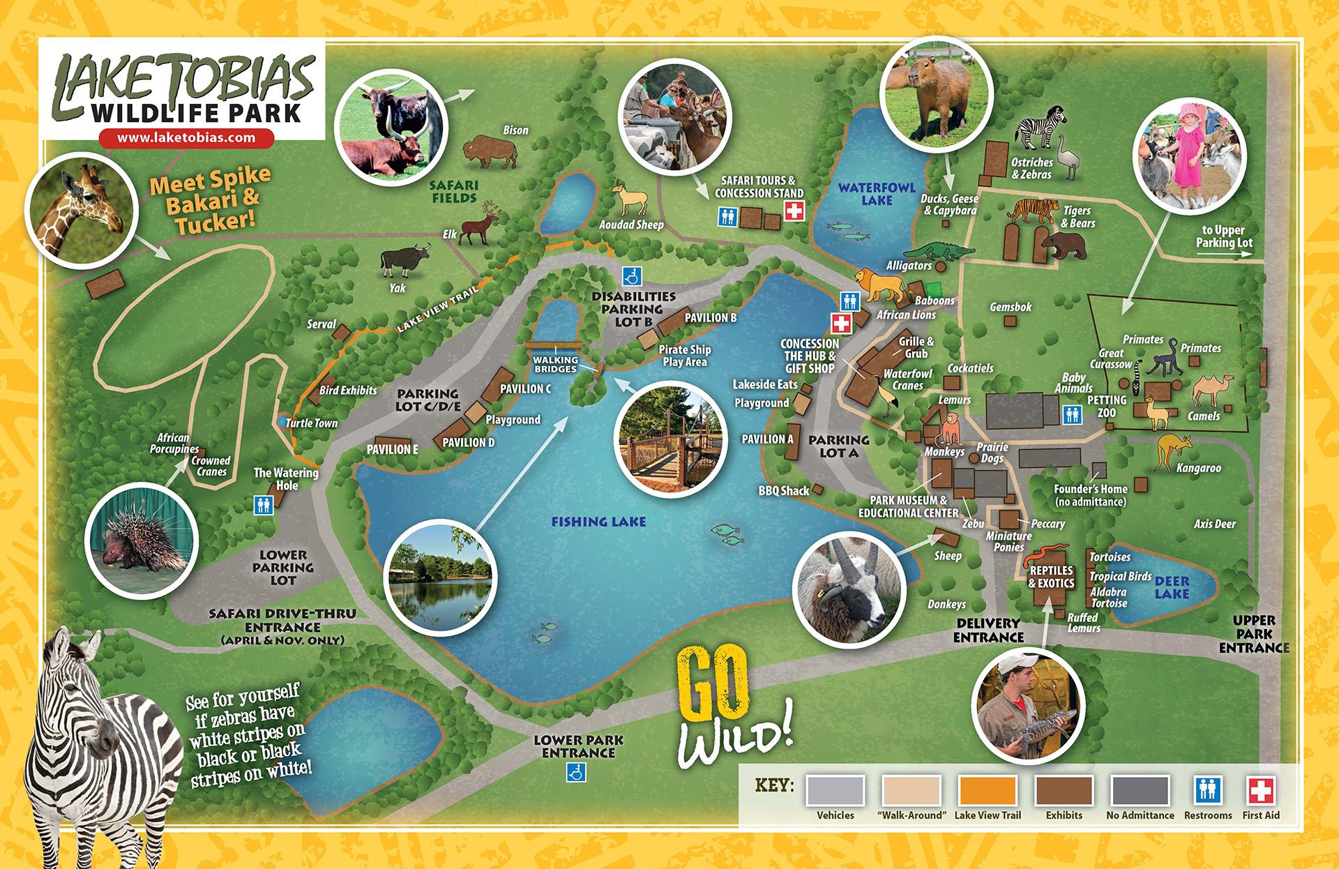 Lake Tobias Wildlife Park map