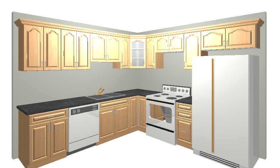 10x10 kitchen cabinets with pizza oven