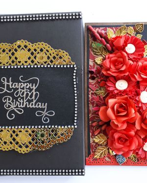 Birthday card for boyfriend | Black and Red theme