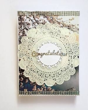 Congratulations Box Card-Royal blue theme